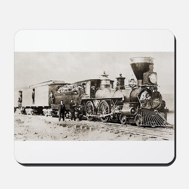 old west trains Mousepad