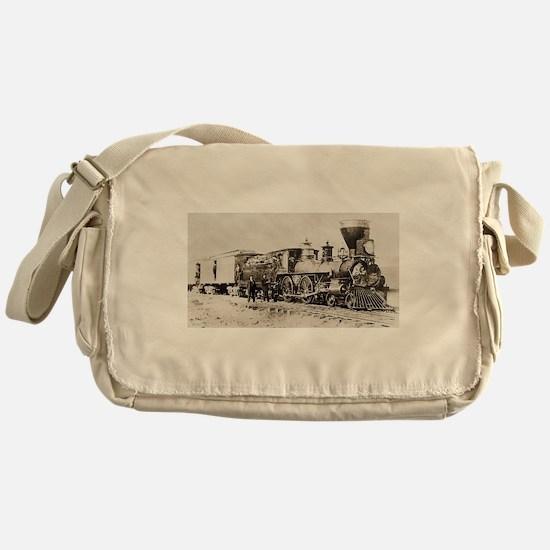 old west trains Messenger Bag