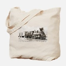 old west trains Tote Bag