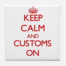 Customs Tile Coaster