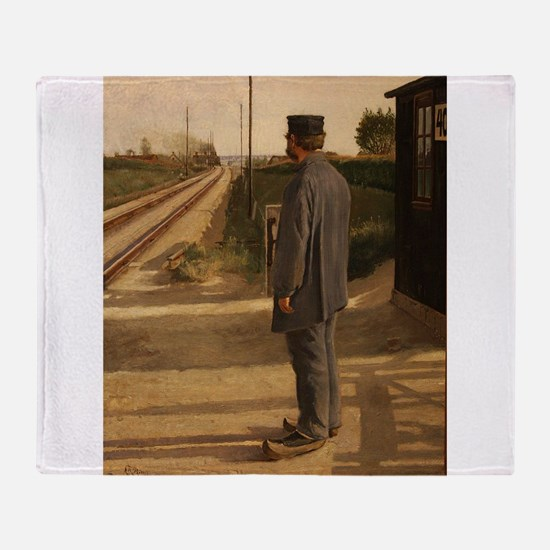 old west trains Throw Blanket