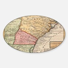 Vintage Map of the Carolinas (1746) Decal