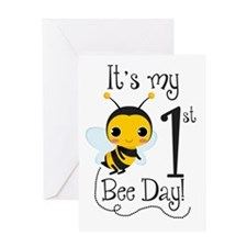 It's My Bee Day Greeting Cards