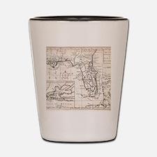 Vintage Map of Florida (1763) Shot Glass