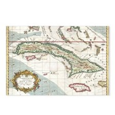 Vintage Map of Cuba and J Postcards (Package of 8)