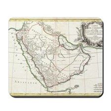 Vintage Map of Saudi Arabia (1771) Mousepad