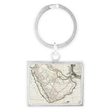 Vintage Map of Saudi Arabia (17 Landscape Keychain