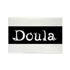 Doula Black Rectangle Magnet
