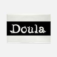 Doula Black Rectangle Magnet