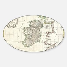 Vintage Map of Ireland (1771) Decal