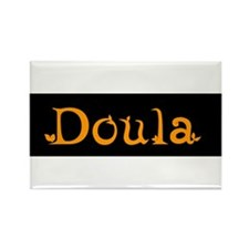 Doula Orange Rectangle Magnet