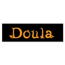 Doula Orange Bumper Bumper Sticker