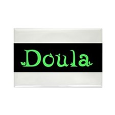 Doula Green Rectangle Magnet (10 pack)