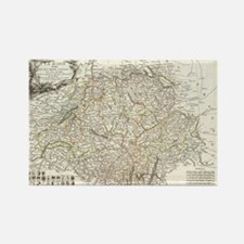 Vintage Map of Switzerland (1771) Rectangle Magnet