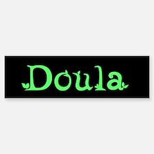 Doula Green Bumper Bumper Bumper Sticker