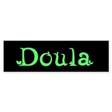 Doula Green Bumper Bumper Sticker