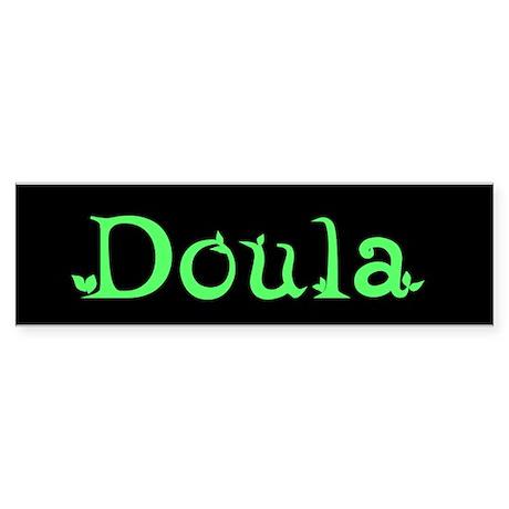 Doula Green Bumper Sticker