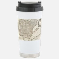 Vintage Map of Spain (1 Stainless Steel Travel Mug