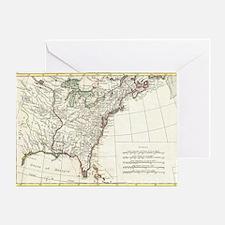 Thirteen Colonies Vintage Map (1776) Greeting Card