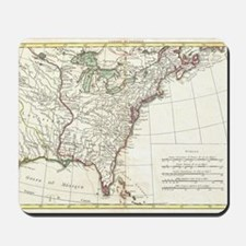 Thirteen Colonies Vintage Map (1776) Mousepad