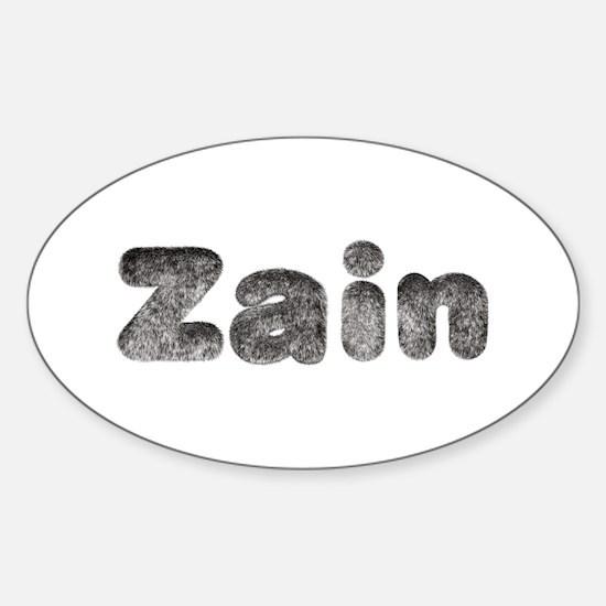 Zain Wolf Oval Decal