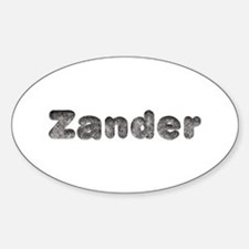 Zander Wolf Oval Decal