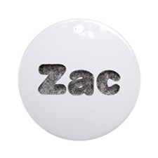 Zac Wolf Round Ornament