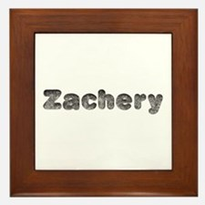 Zachery Wolf Framed Tile
