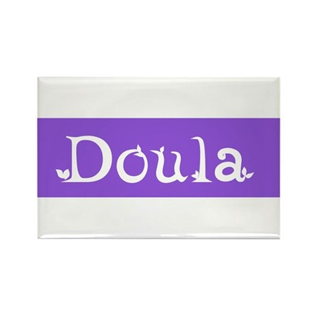 Doula Periwinkle Rectangle Magnet (10 pack)