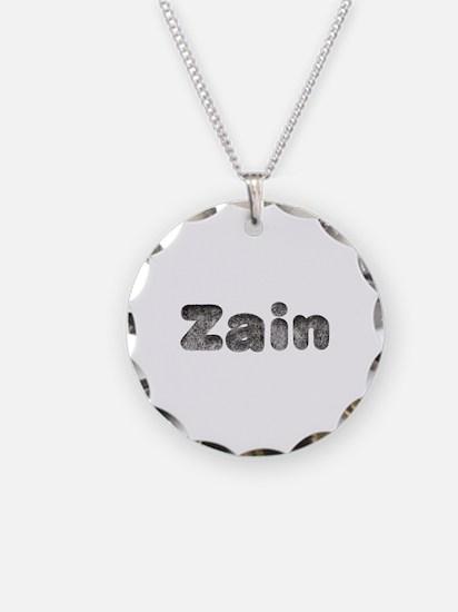 Zain Wolf Necklace Circle Charm