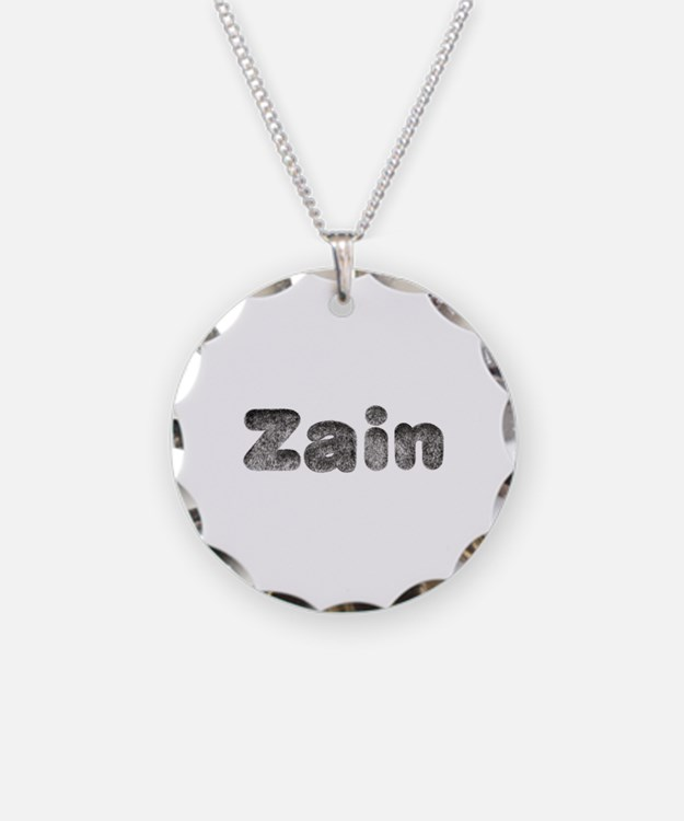 Zain Wolf Necklace Circle Charm