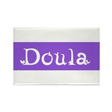 Doula Periwinkle Rectangle Magnet