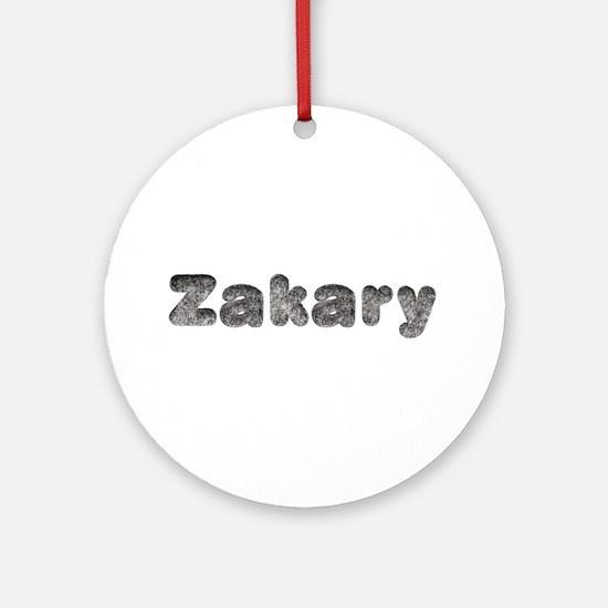 Zakary Wolf Round Ornament