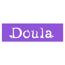 Doula Periwinkle Bumper Bumper Sticker