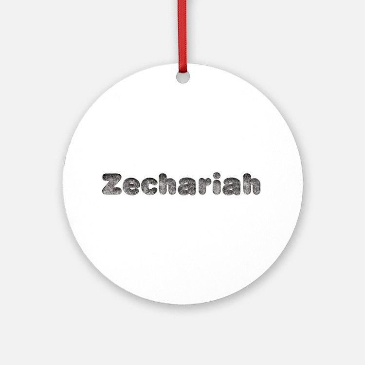 Zechariah Wolf Round Ornament