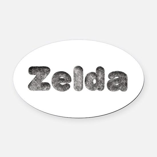 Zelda Wolf Oval Car Magnet