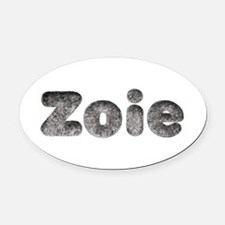 Zoie Wolf Oval Car Magnet