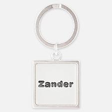 Zander Wolf Square Keychain