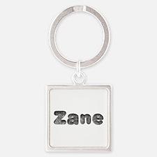 Zane Wolf Square Keychain