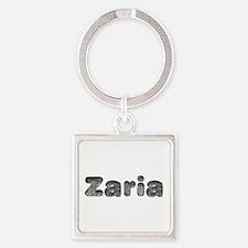 Zaria Wolf Square Keychain