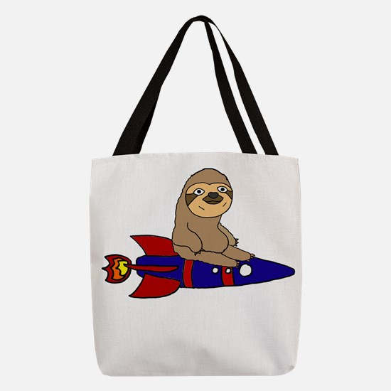 Funny Sloth Polyester Tote Bag