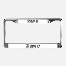 Zane Wolf License Plate Frame