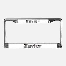 Zavier Wolf License Plate Frame