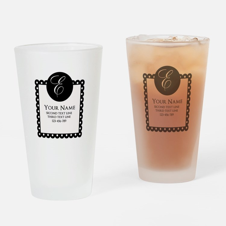 Personalized Texts Drinking Glass