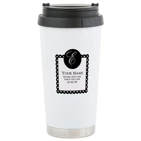 texts stainless steel travel mug
