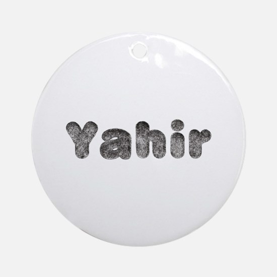 Yahir Wolf Round Ornament
