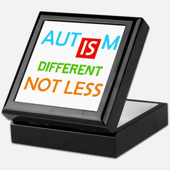 Autism Is Different Not Less Keepsake Box