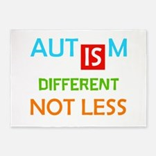 Autism Is Different Not Less 5'x7'Area Rug