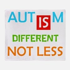 Autism Is Different Not Less Throw Blanket