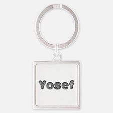 Yosef Wolf Square Keychain